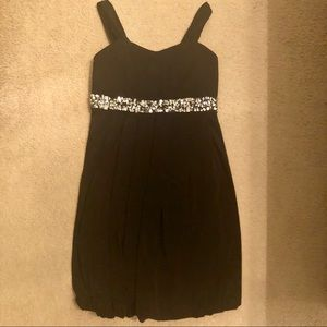 Speechless Dress Black and Silver